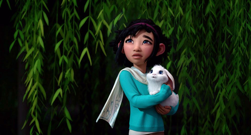 """Fei Fei (voice: Cathy Ang) in """"Over the Moon."""""""
