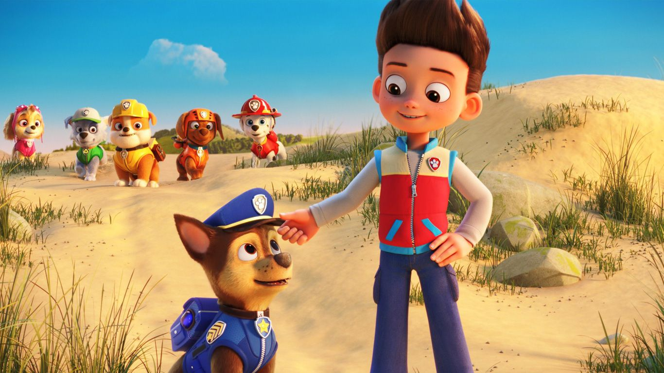 """A scene from """"PAW Patrol: The Movie."""""""