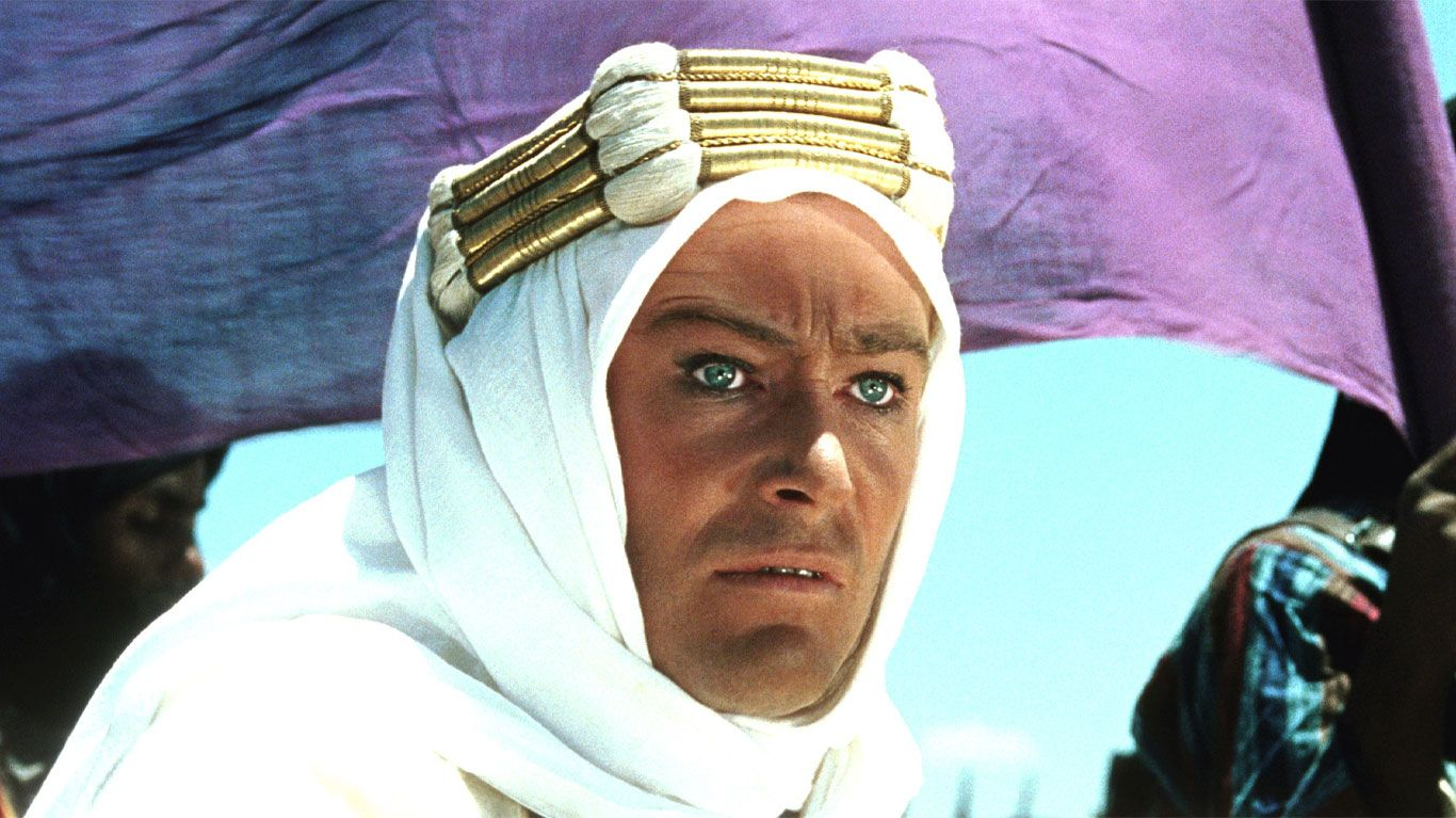 """Peter O'Toole in """"Lawrence of Arabia."""""""