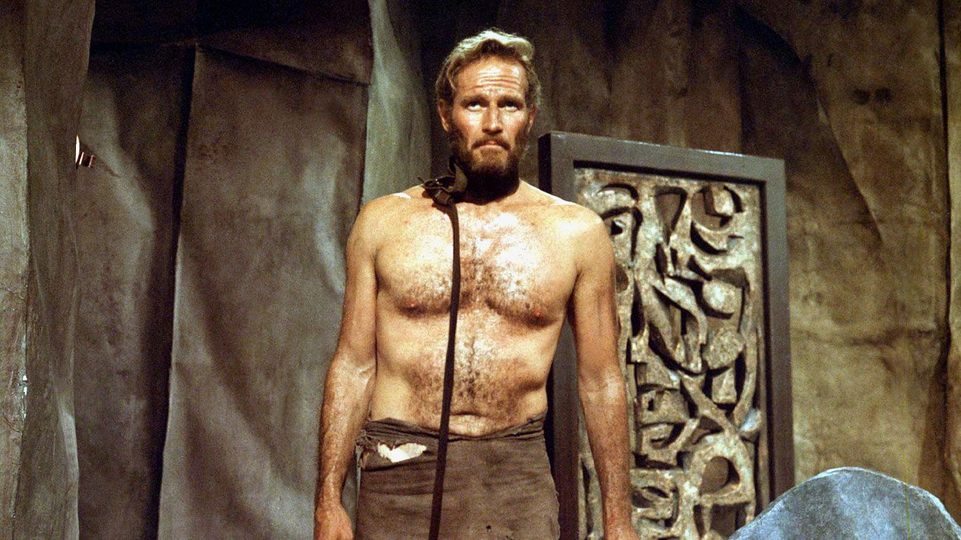 """Charlton Heston in """"Planet of the Apes (1968)."""""""
