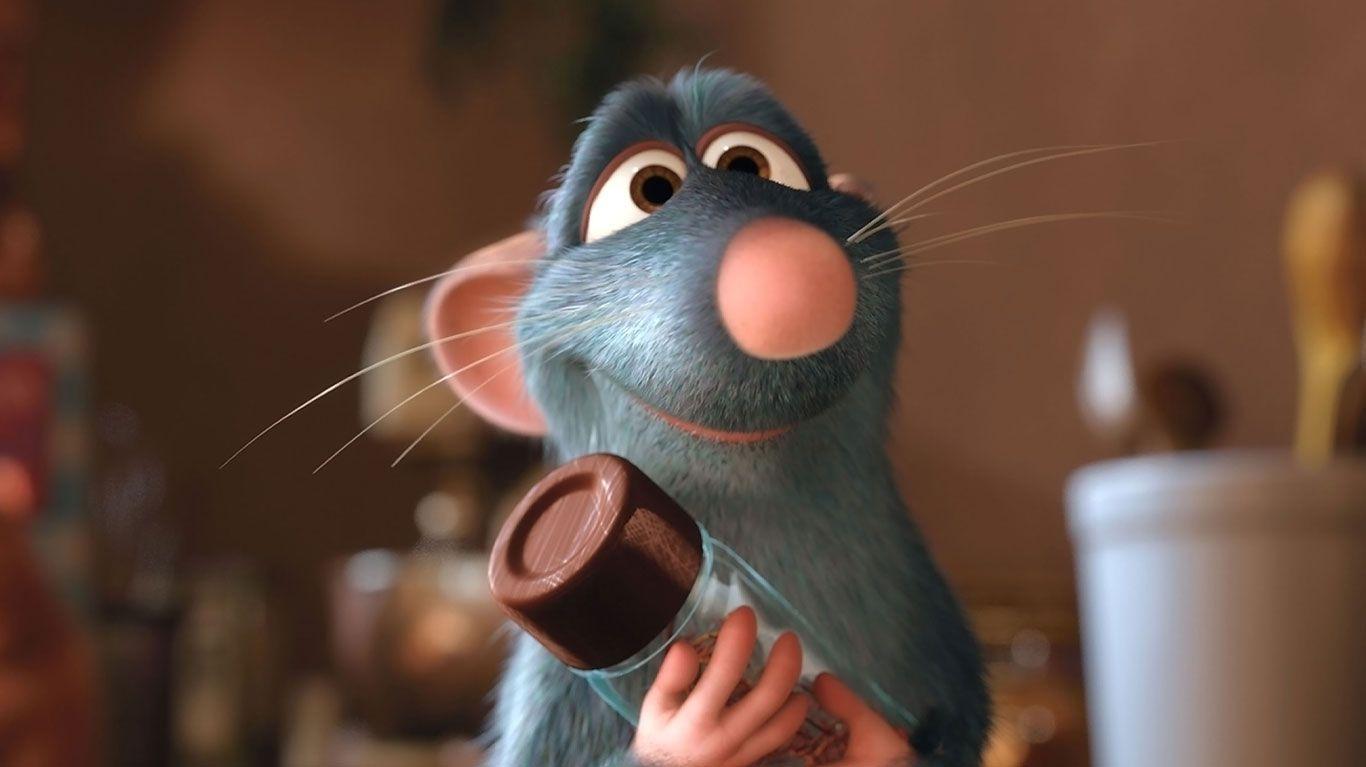 "Remy (voice: Patton Oswalt) in ""Ratatouille."""