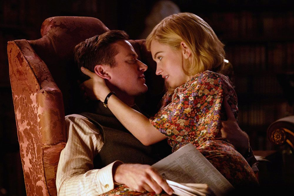 """Armie Hammer and Lily James in """"Rebecca."""""""