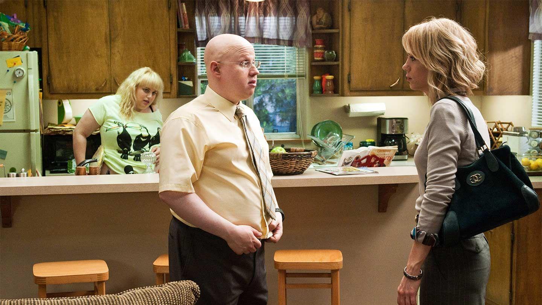 """Rebel Wilson, Matt Lucas, and Kristen Wiig in """"Bridesmaids."""""""