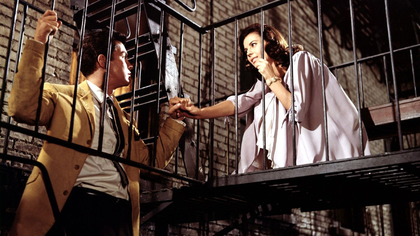 """Richard Beymer and Natalie Wood in """"West Side Story."""""""