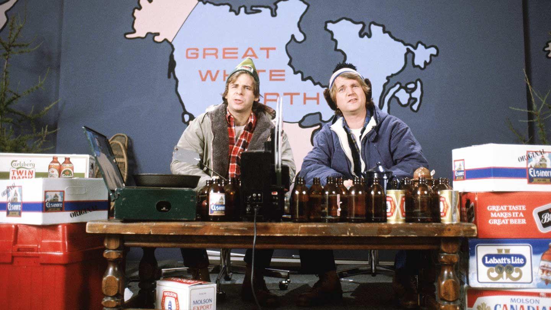 """Rick Moranis and Dave Thomas in """"Strange Brew."""""""