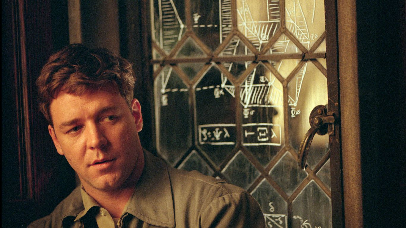 """Russell Crowe in """"A Beautiful Mind."""""""