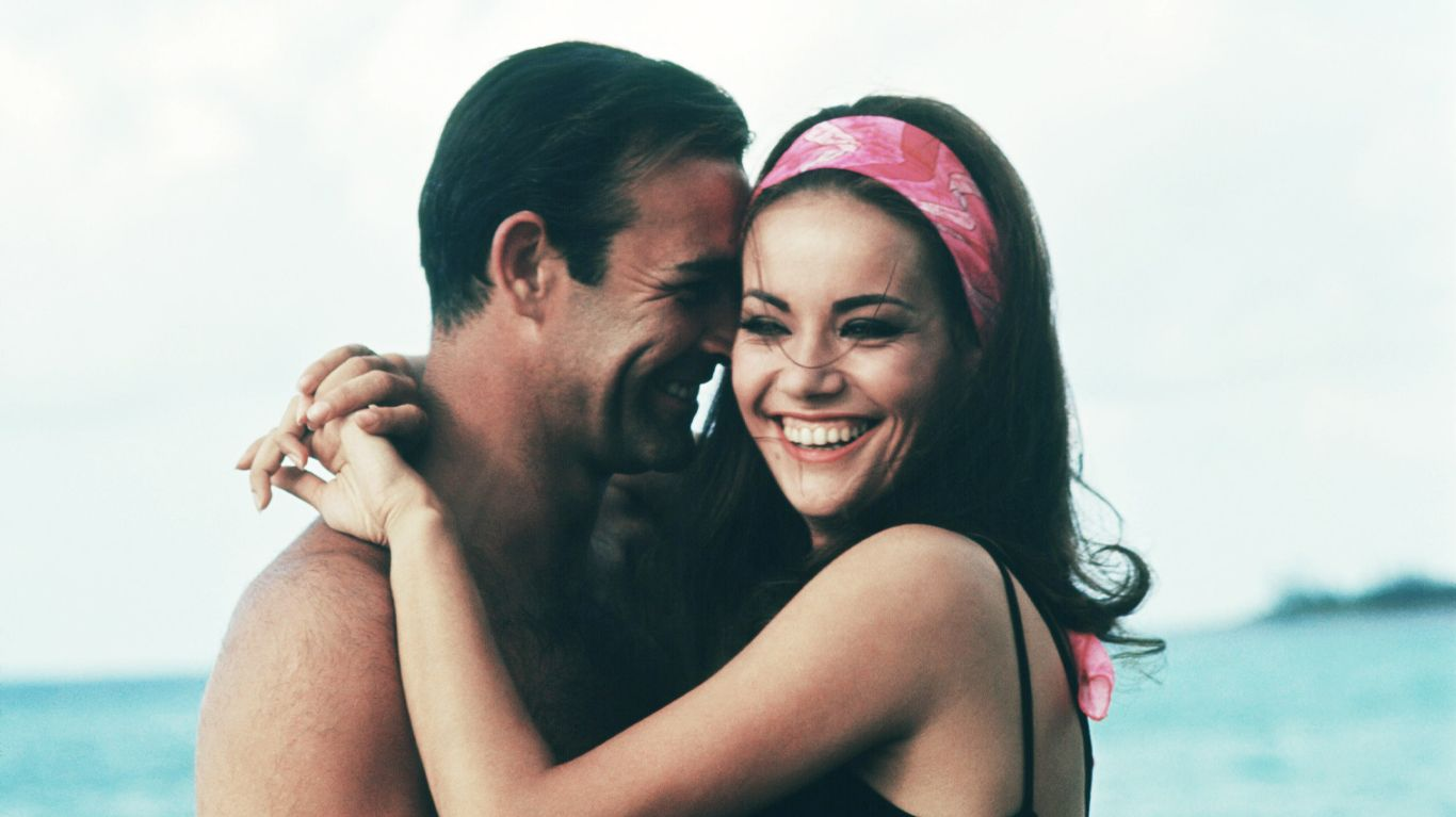 """Sean Connery and Claudine Auger in """"Thunderball."""""""