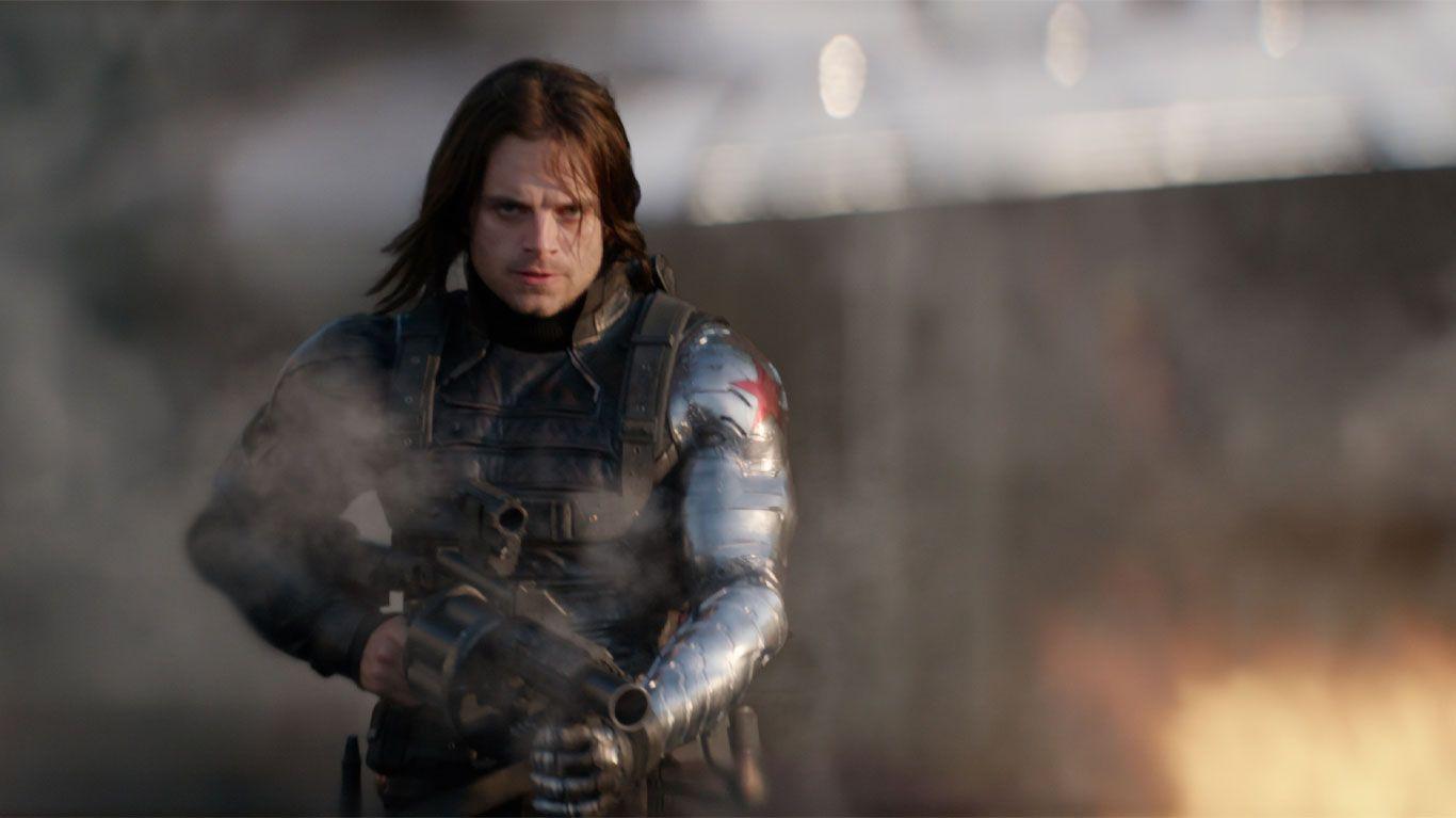 "Sebastian Stan in ""Captain America: The Winter Soldier."""