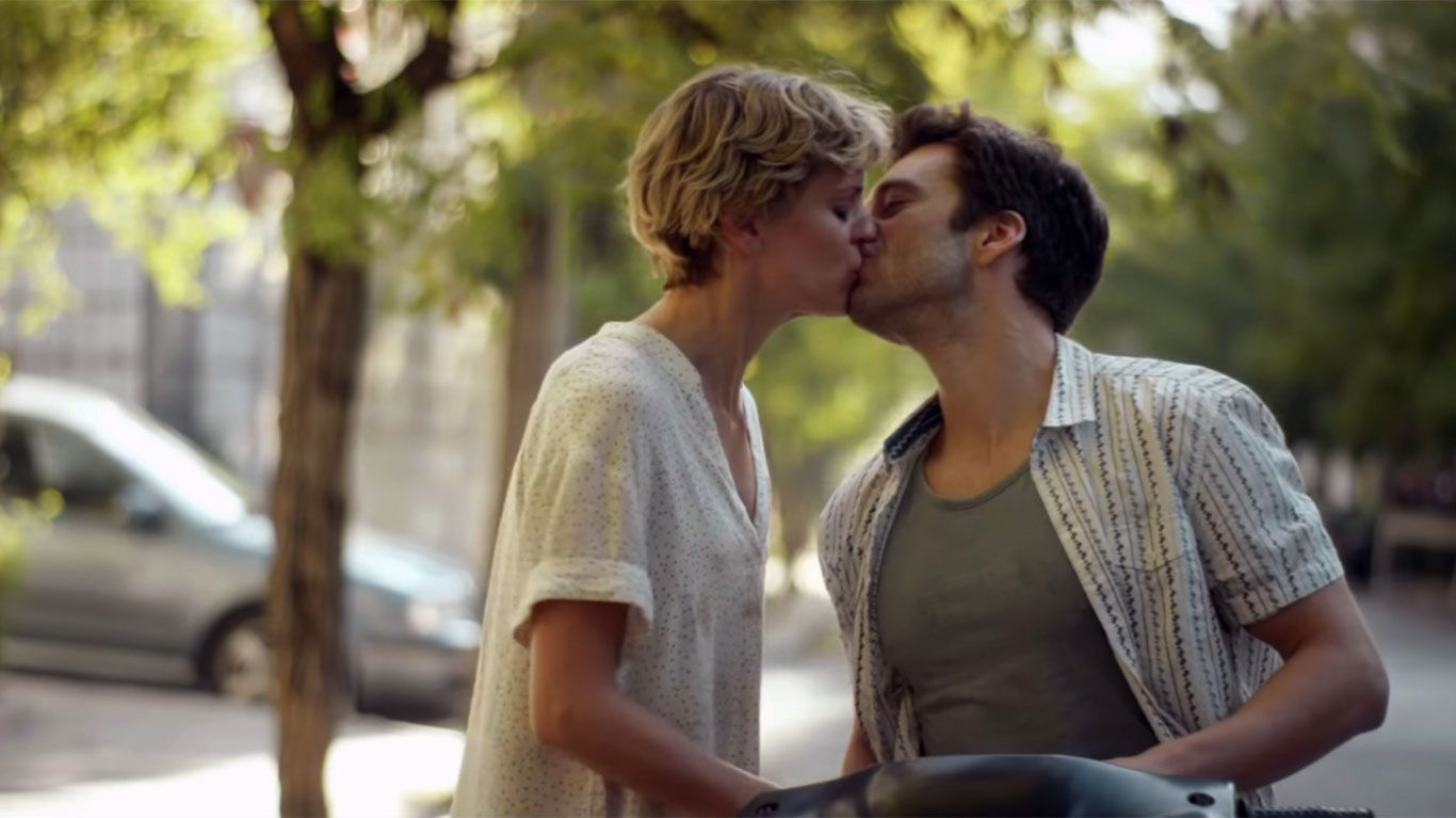 "Denise Gough and Sebastian Stan in ""Monday."""