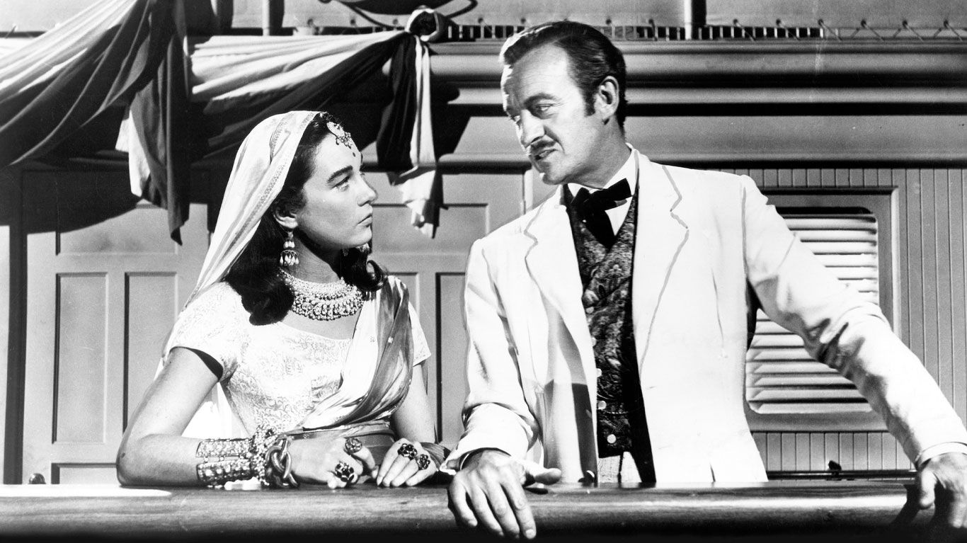"""Shirley MacLaine and David Niven in """"Around the World in 80 Days."""""""