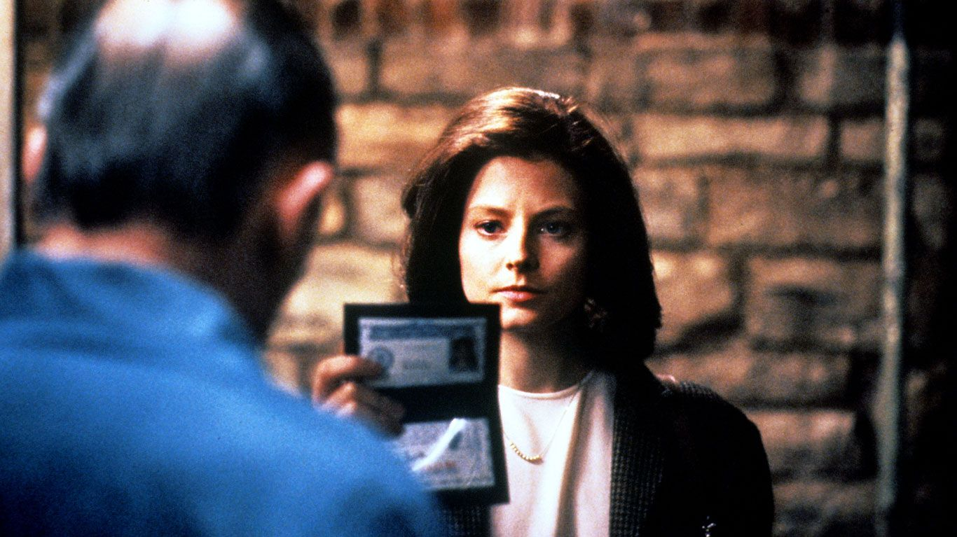 """Anthony Hopkins and Jodie Foster in """"Silence of the Lambs."""""""