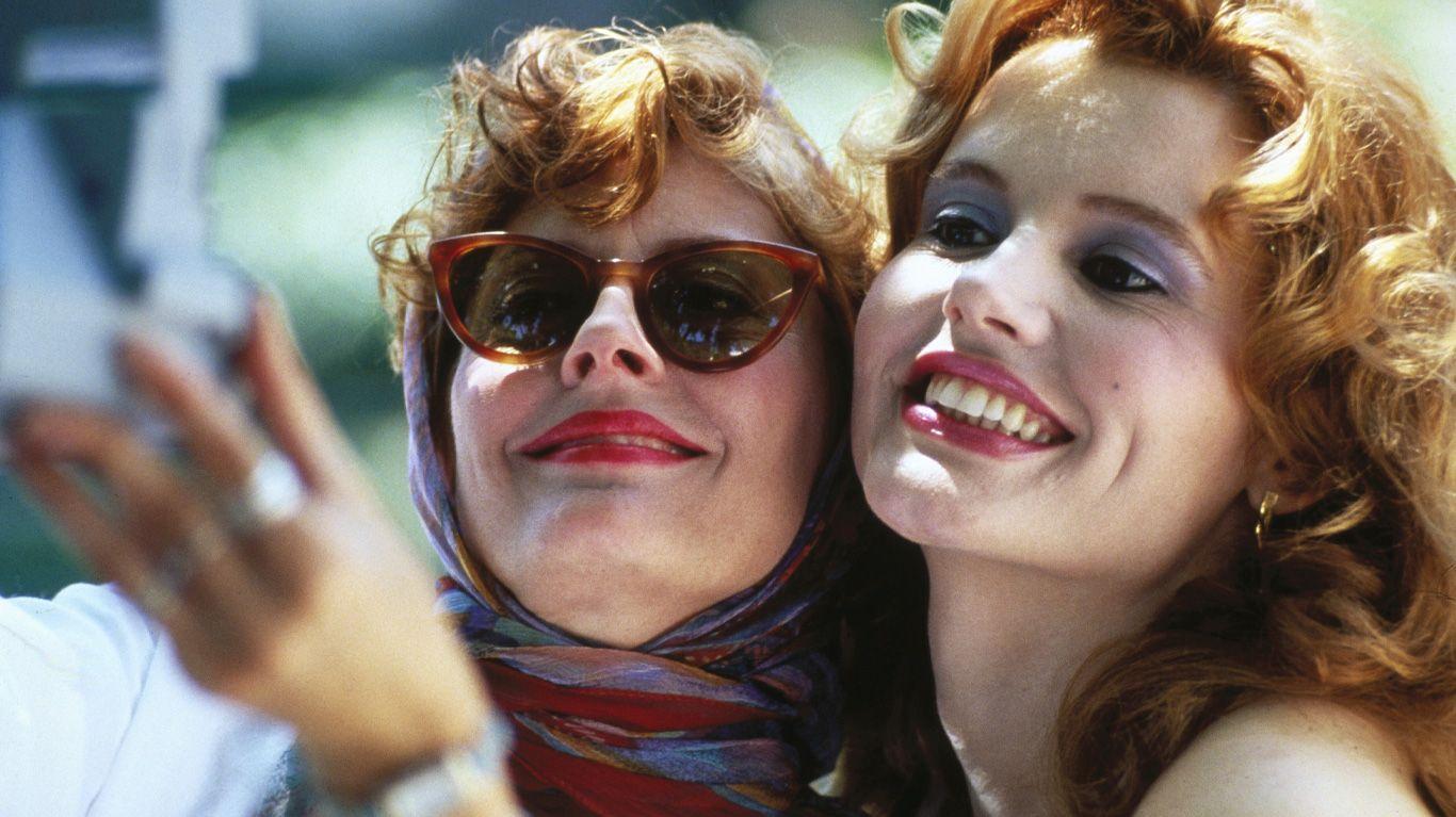 "Susan Sarandon and Geena Davis in ""Thelma & Louise."""