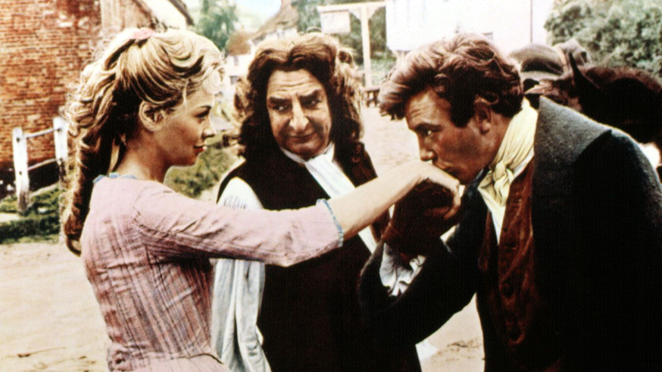 "Susannah York, Hugh Griffith, Albert Finney in ""Tom Jones."""
