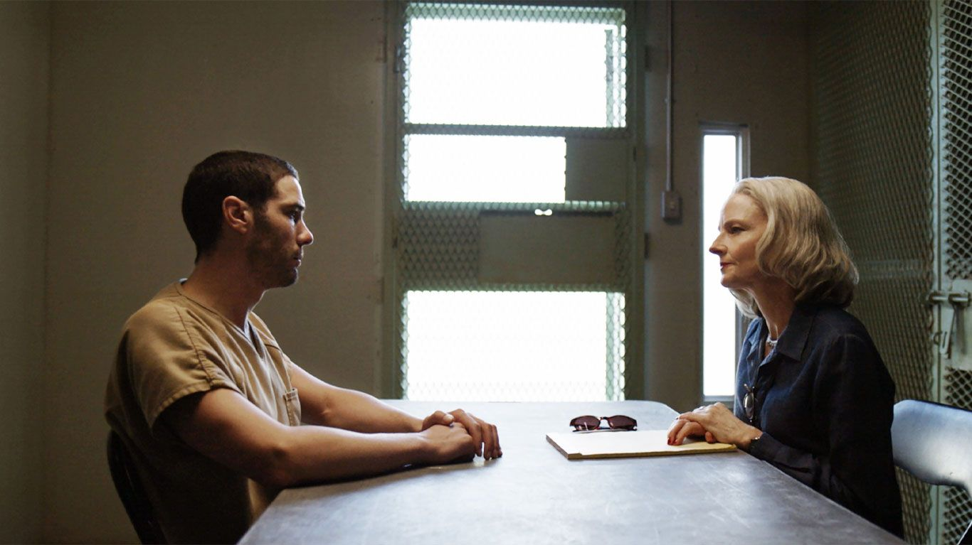 "Tahar Rahim, Jodie Foster in ""The Mauritanian."""