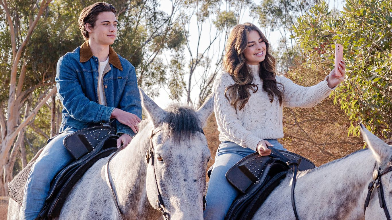 """Tanner Buchanan and Addison Rae in """"He's All That."""""""