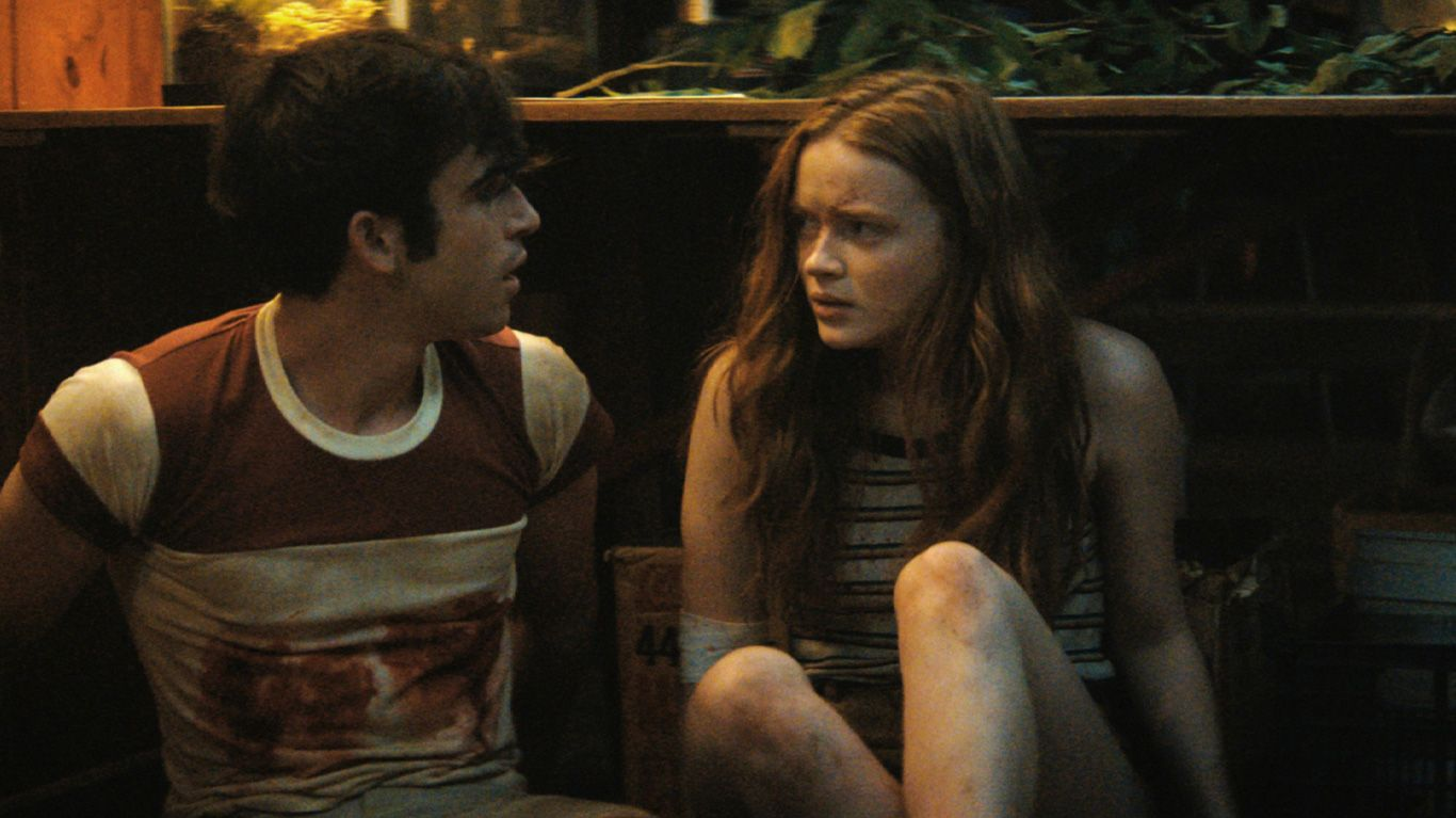"""Ted Sutherland and Sadie Sink in """"Fear Street Part Two: 1978"""""""