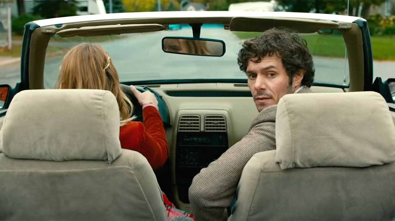 """Sophie Nelisse and Adam Brody in """"The Kid Detective."""""""