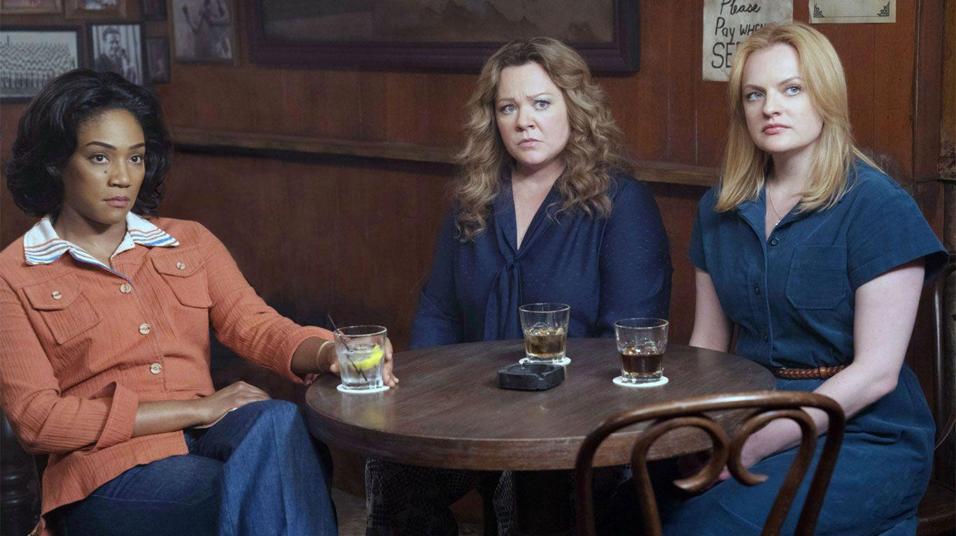 "Tiffany Haddish, Melissa McCarthy, Elisabeth Moss in ""The Kitchen."""