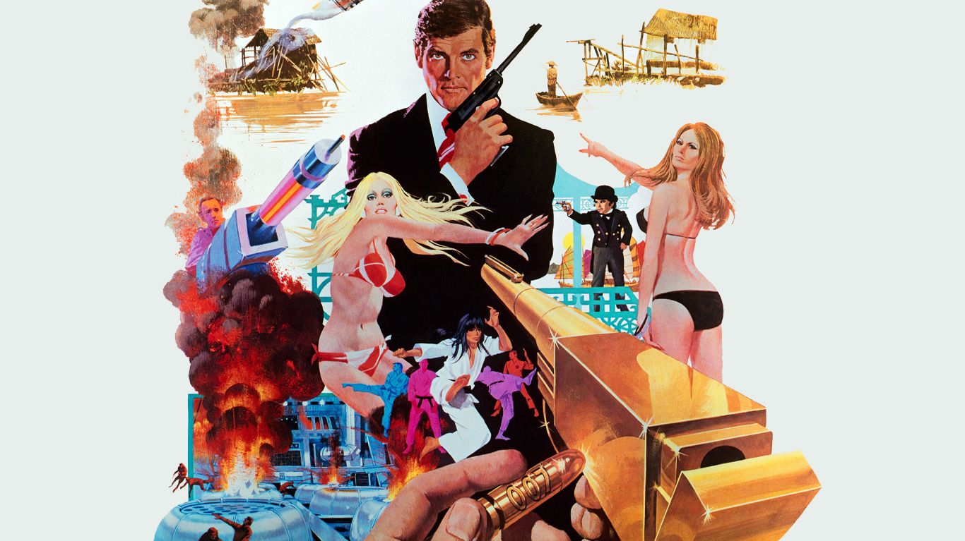 """Key art from """"The Man with the Golden Gun."""""""