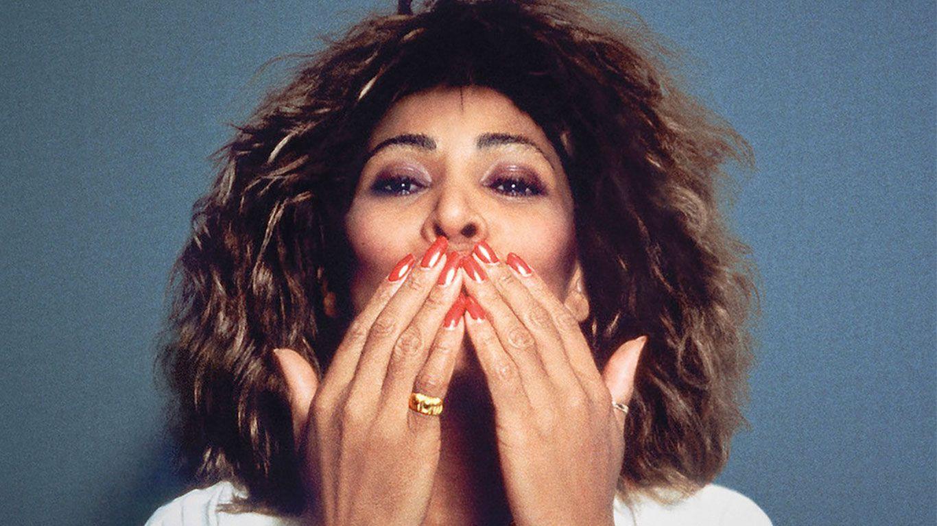 """Tina Turner on poster art for """"Tina."""""""