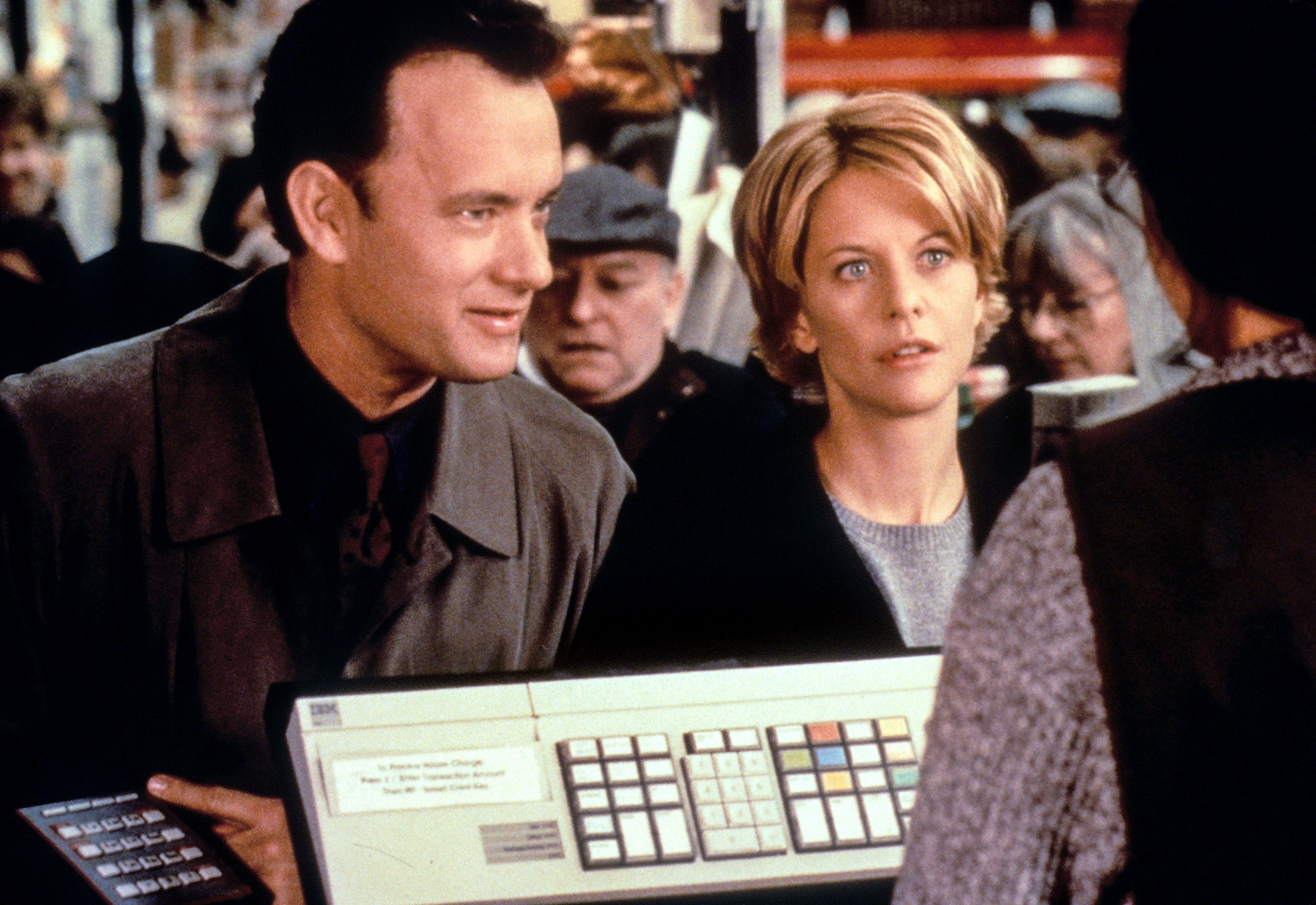 "Tom Hanks and Meg Ryan in ""You've Got Mail."""
