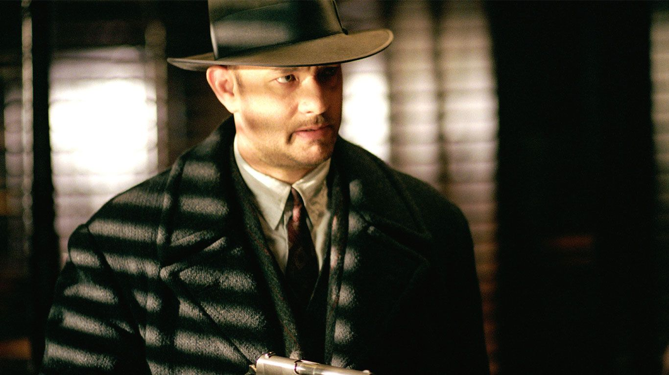 """Tom Hanks in """"Road to Perdition."""""""