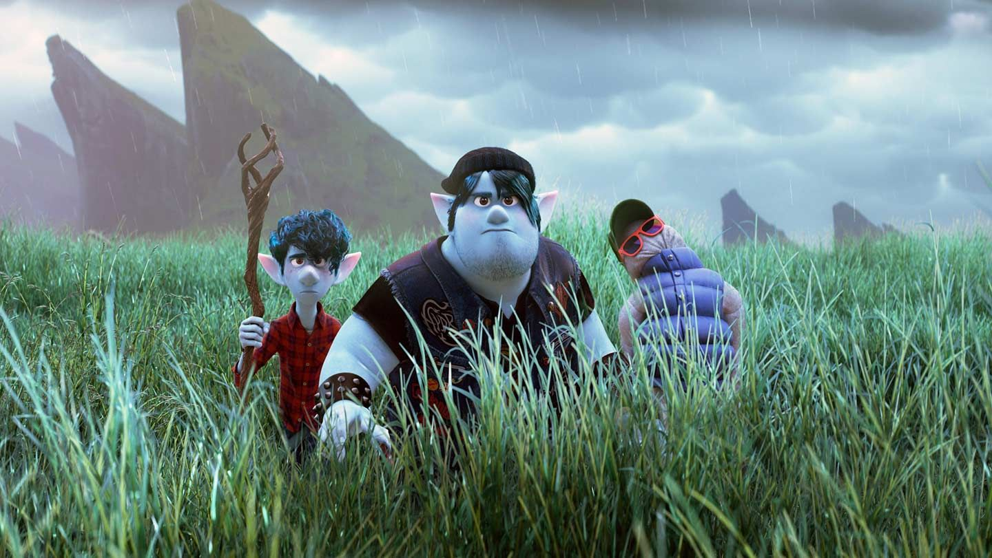 """Ian Lightfoot (voiced by Tom Holland) and Barley Lightfoot (voiced by Chris Pratt) in """"Onward."""""""