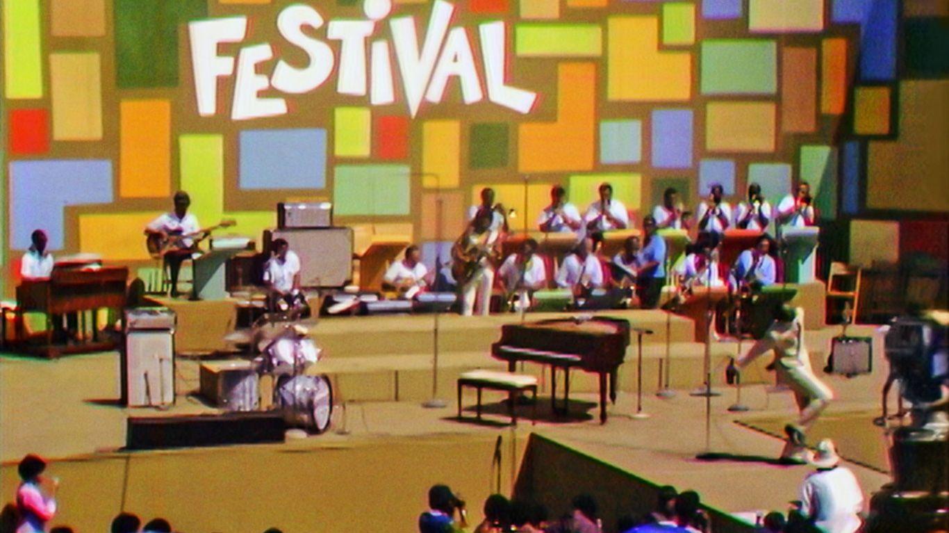 "Tony Lawrence hosting the Harlem Cultural Festival in 1969 - ""Summer of Soul."""