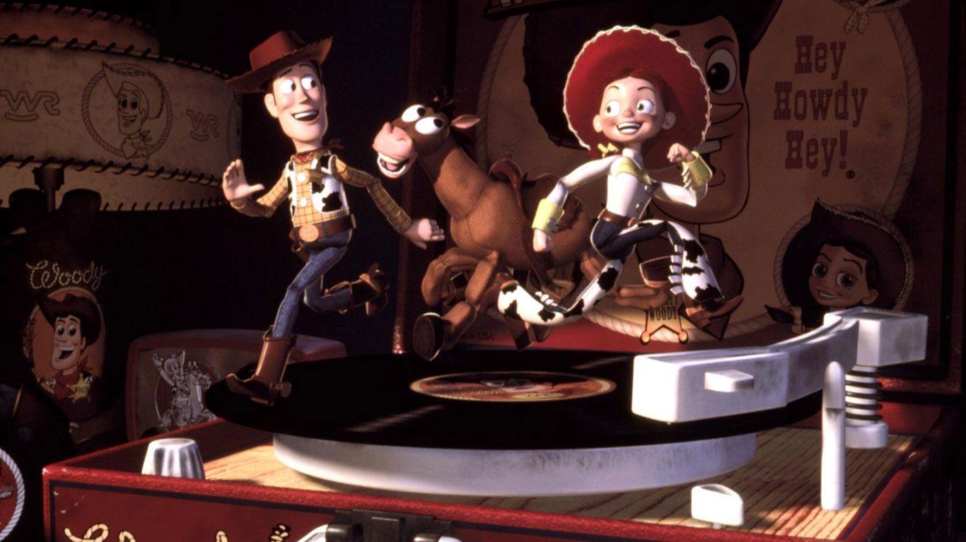 """Woody, Bullseye, Jessie in """"Toy Story 2."""""""