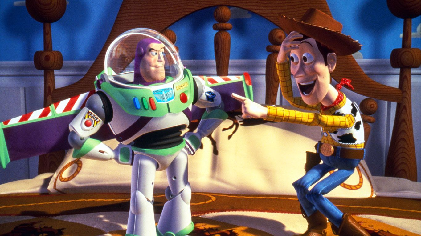 """Buzz Lightyear and Woody in """"Toy Story."""""""