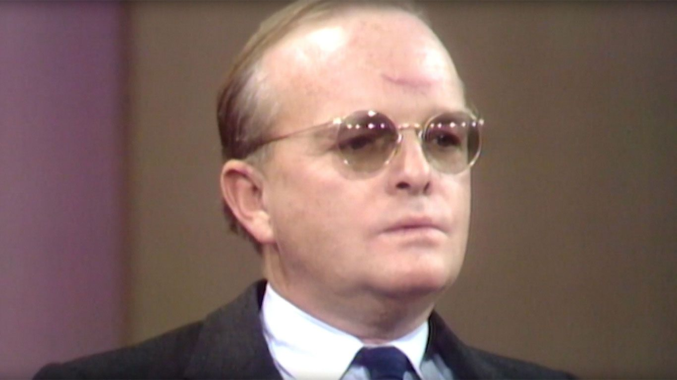 """Archival footage of Truman Capote in """"Truman & Tennessee: An Intimate Conversation."""""""