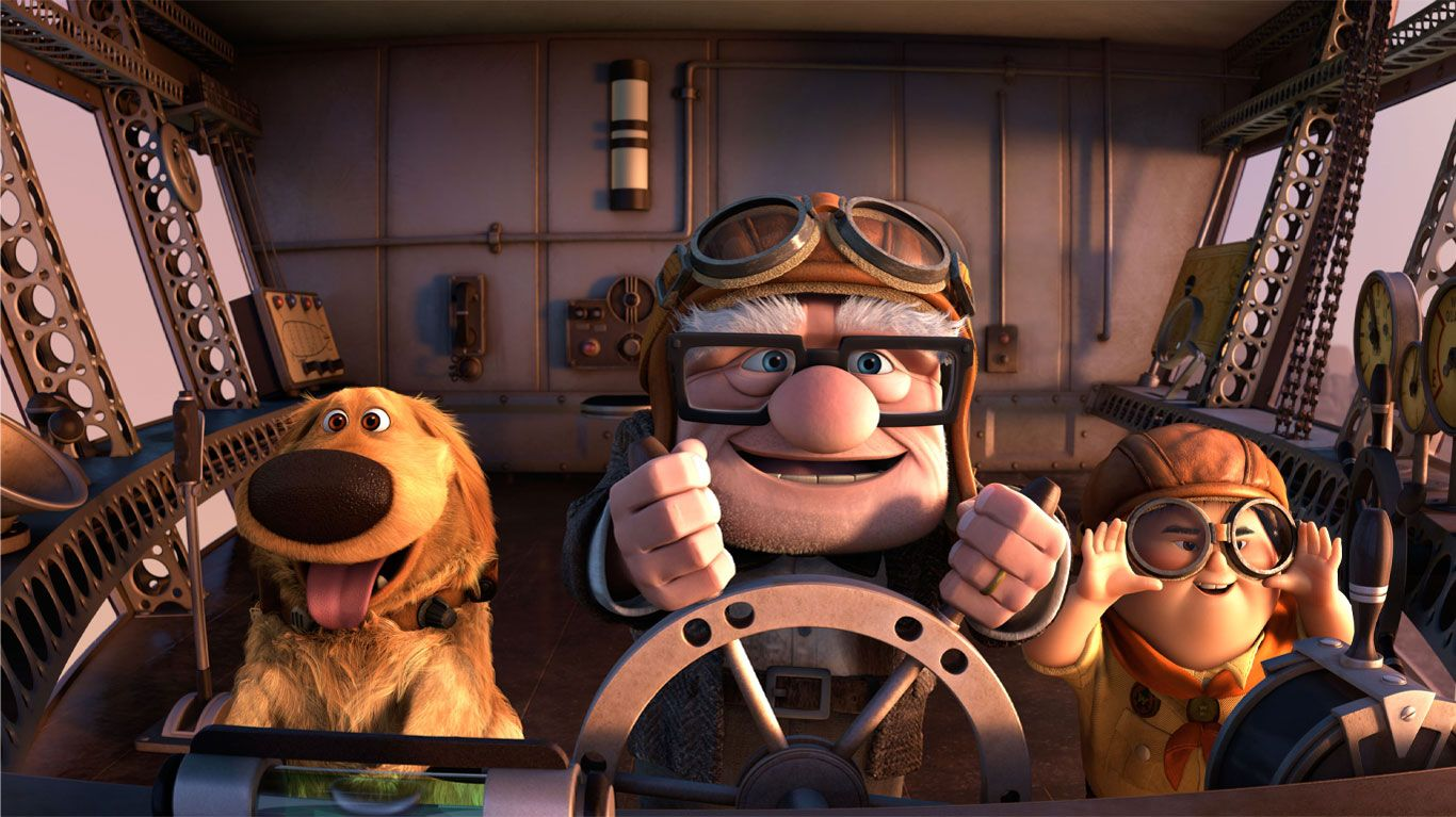 """Dug, Carl (voice: Edward Asner), Russell in """"Up."""""""