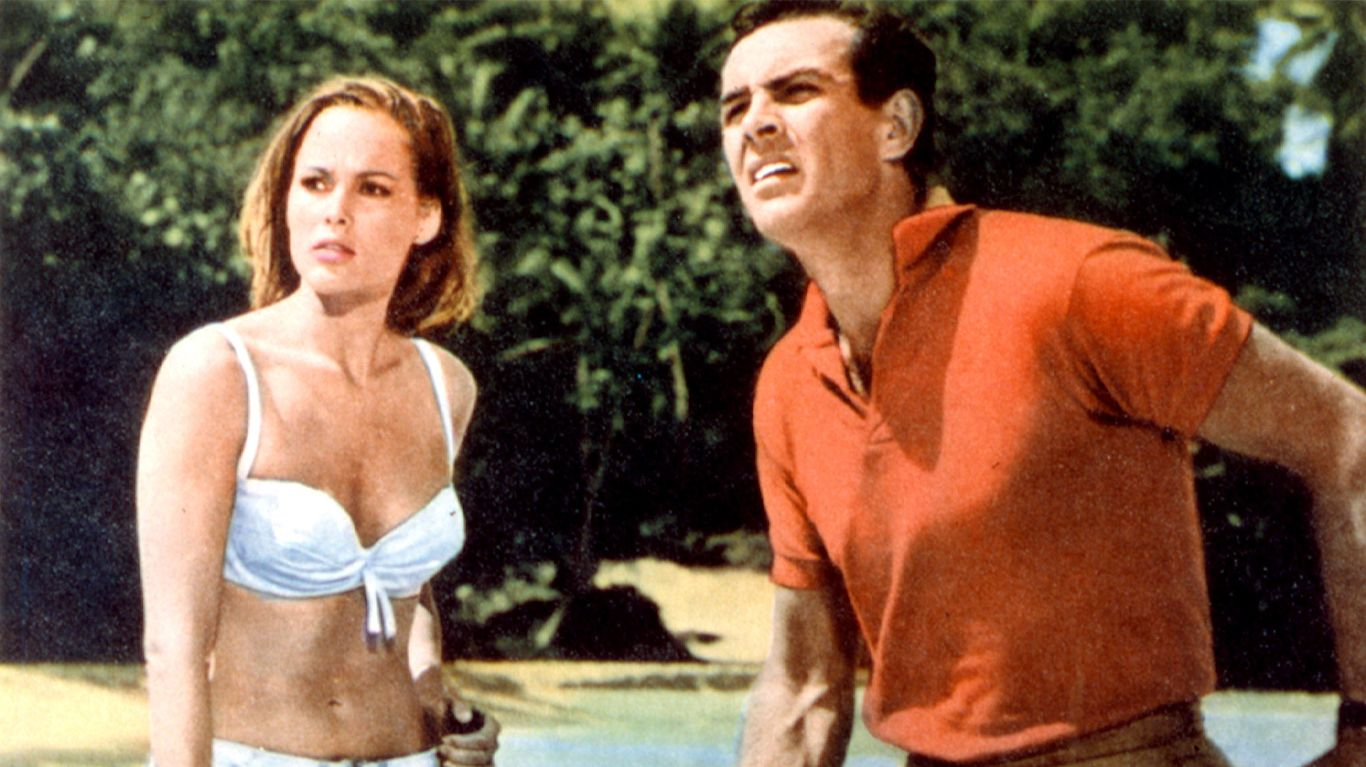 """Ursula Andress and Sean Connery in """"Dr. No."""""""