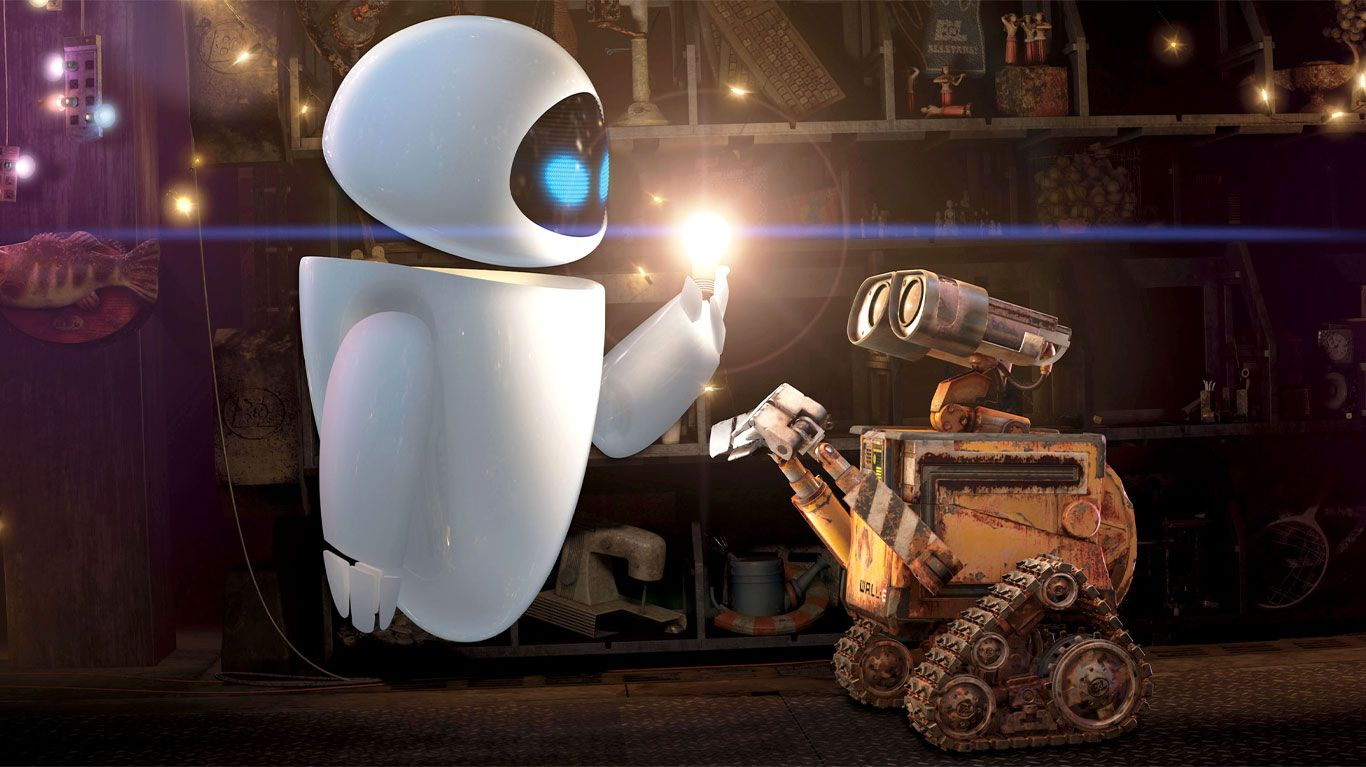 """WALL-E and EVE in """"WALL-E."""""""