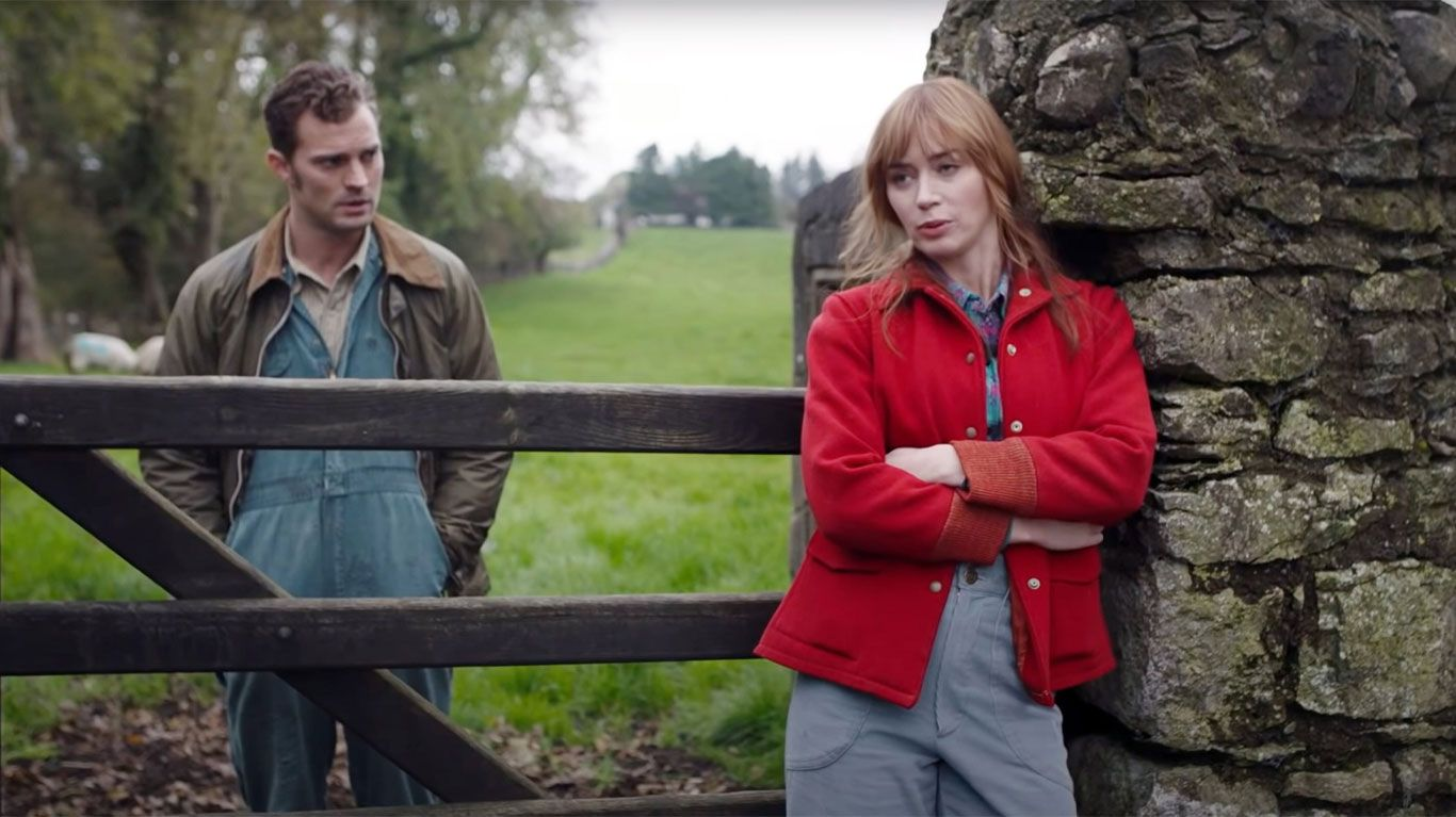 """Jamie Dornan and Emily Blunt in """"Wild Mountain Thyme."""""""