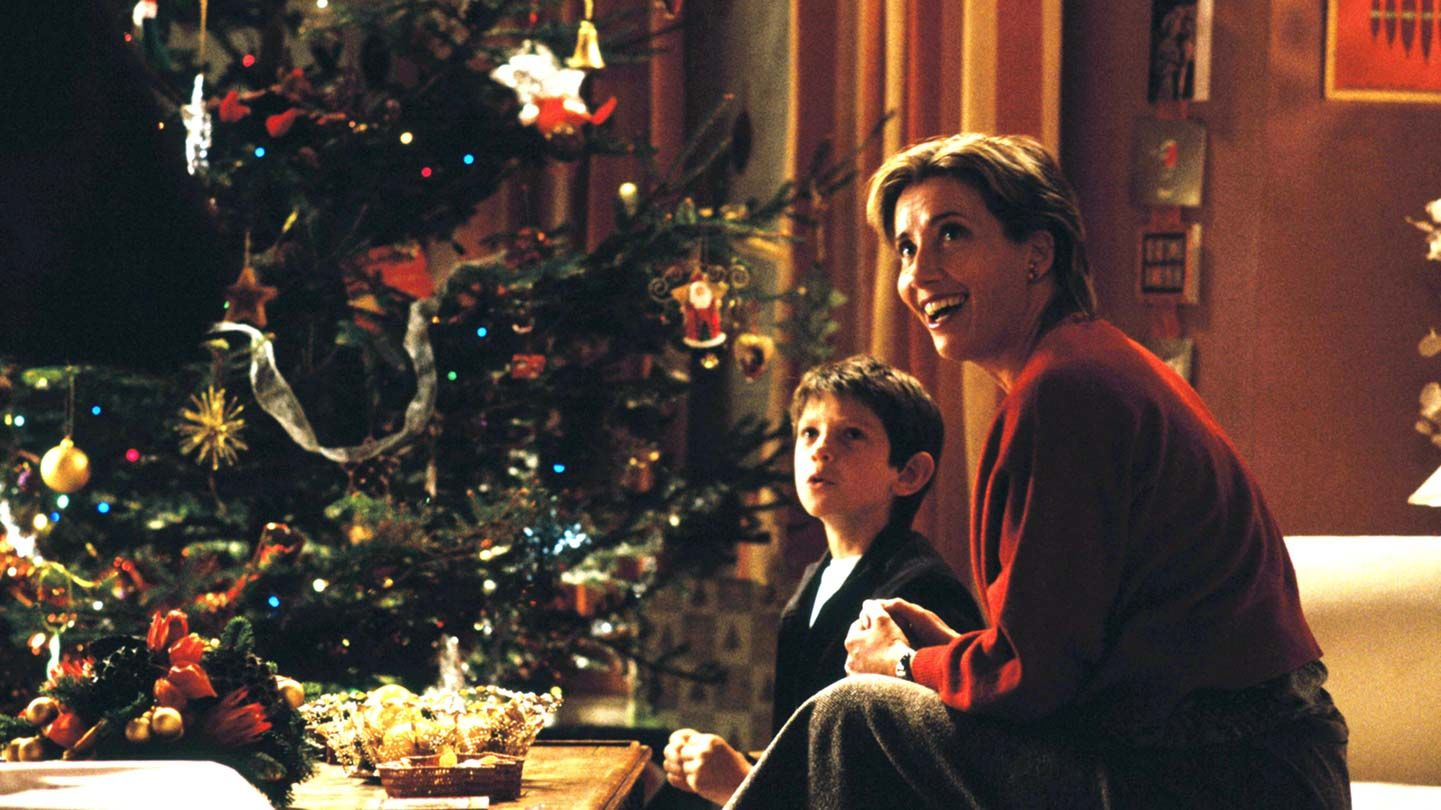 """William Wadham and Emma Thompson in """"Love Actually."""""""