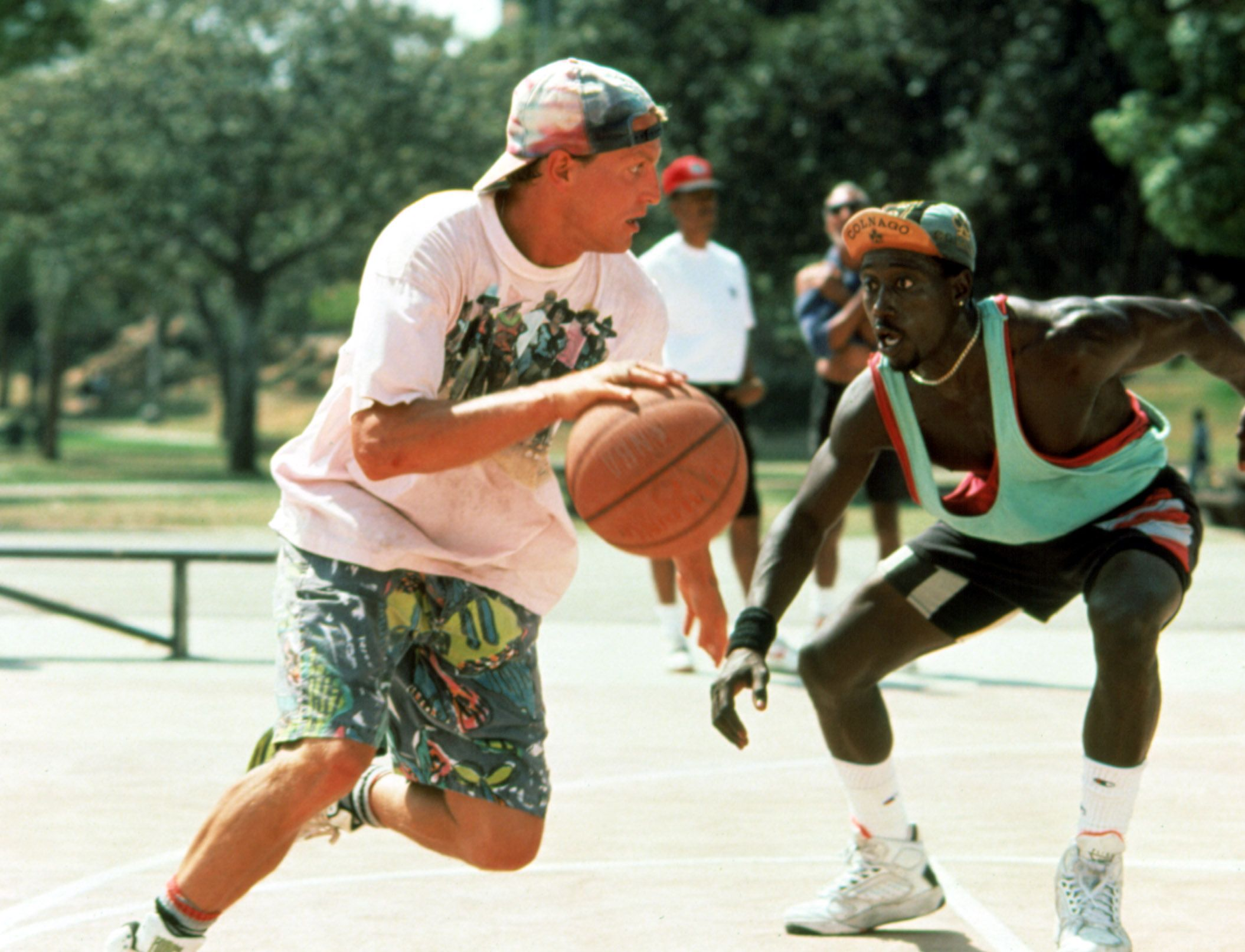 """Woody Harrelson and Wesley Snipes in """"White Men Can't Jump."""""""