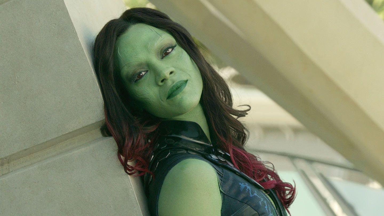 "Zoe Saldana in ""Guardians of the Galaxy."""
