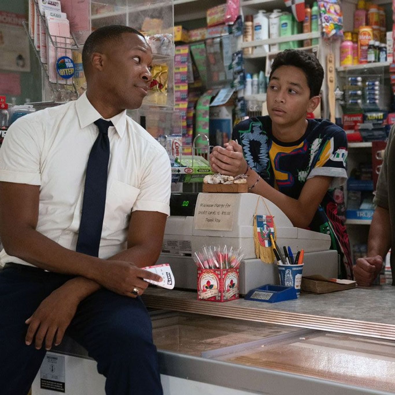 """Box Office - Corey Hawkins, Gregory Diaz IV, Anthony Ramos in """"In the Heights."""""""