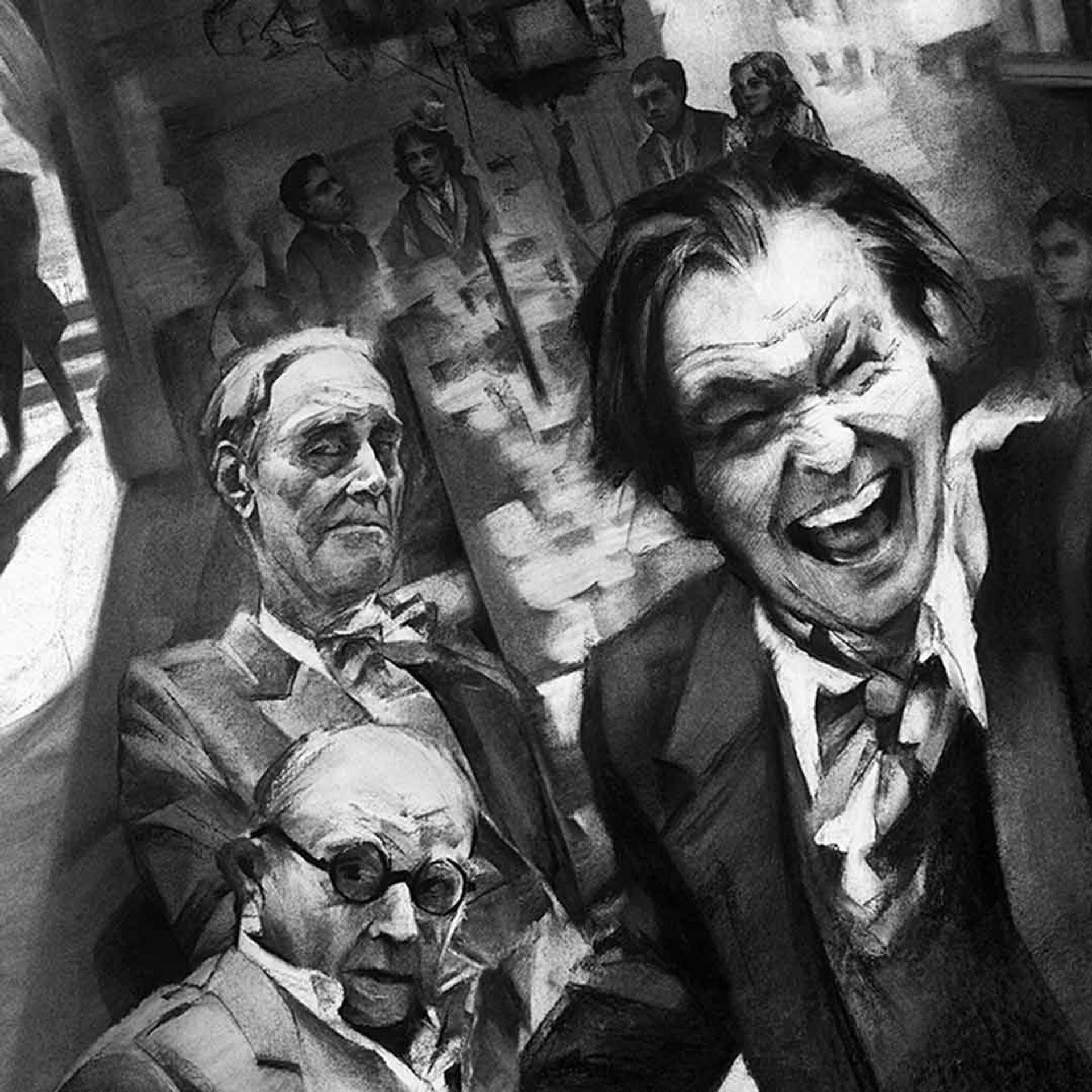 """Gary Oldman in poster art for """"Mank."""""""