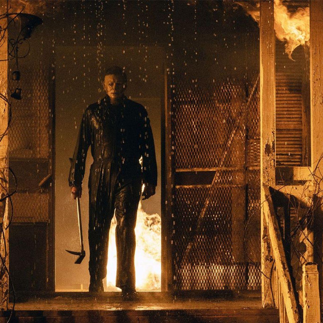 "Box Office - Michael Myers aka The Shape in ""Halloween Kills."""