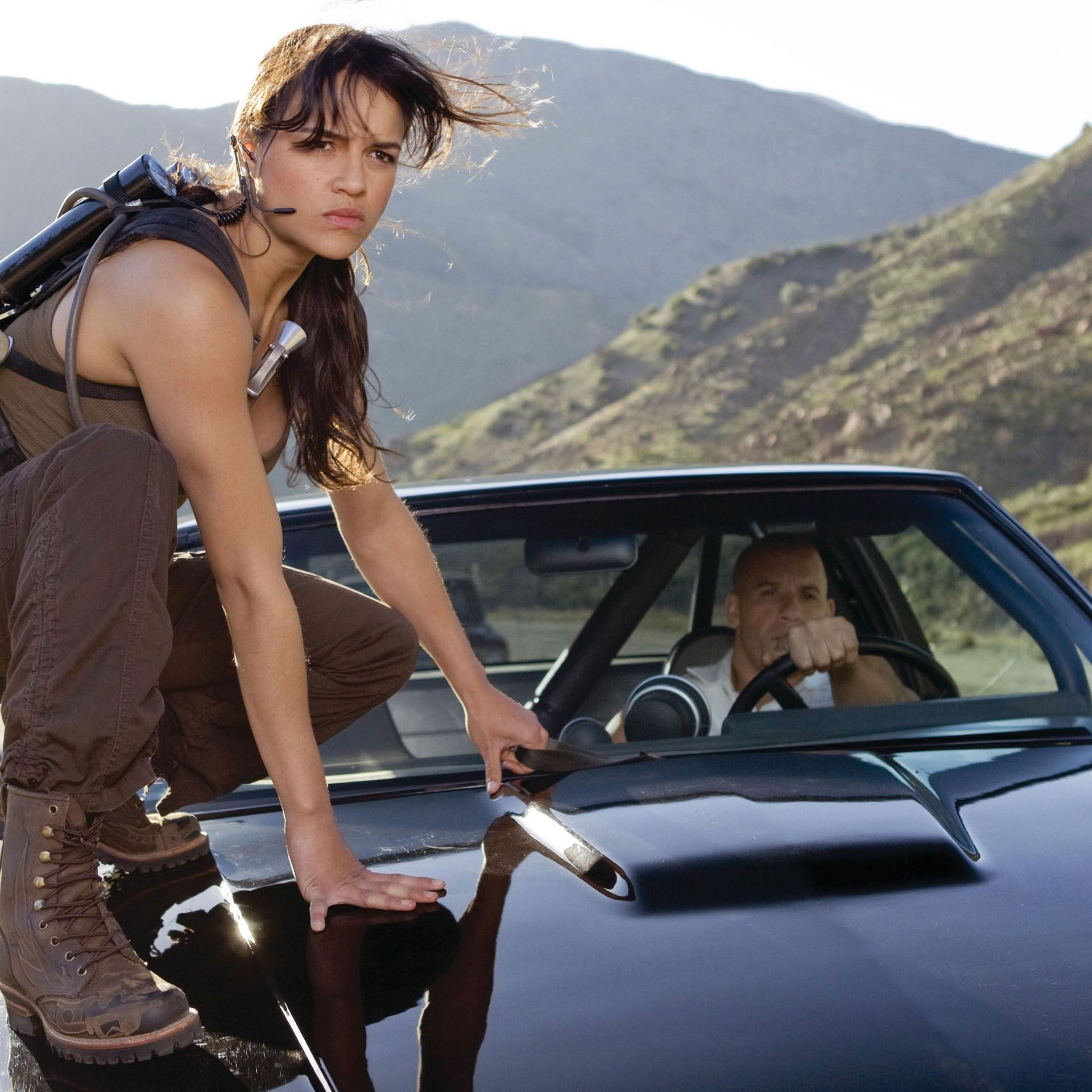 """Michelle Rodriguez in """"Fast & Furious."""""""