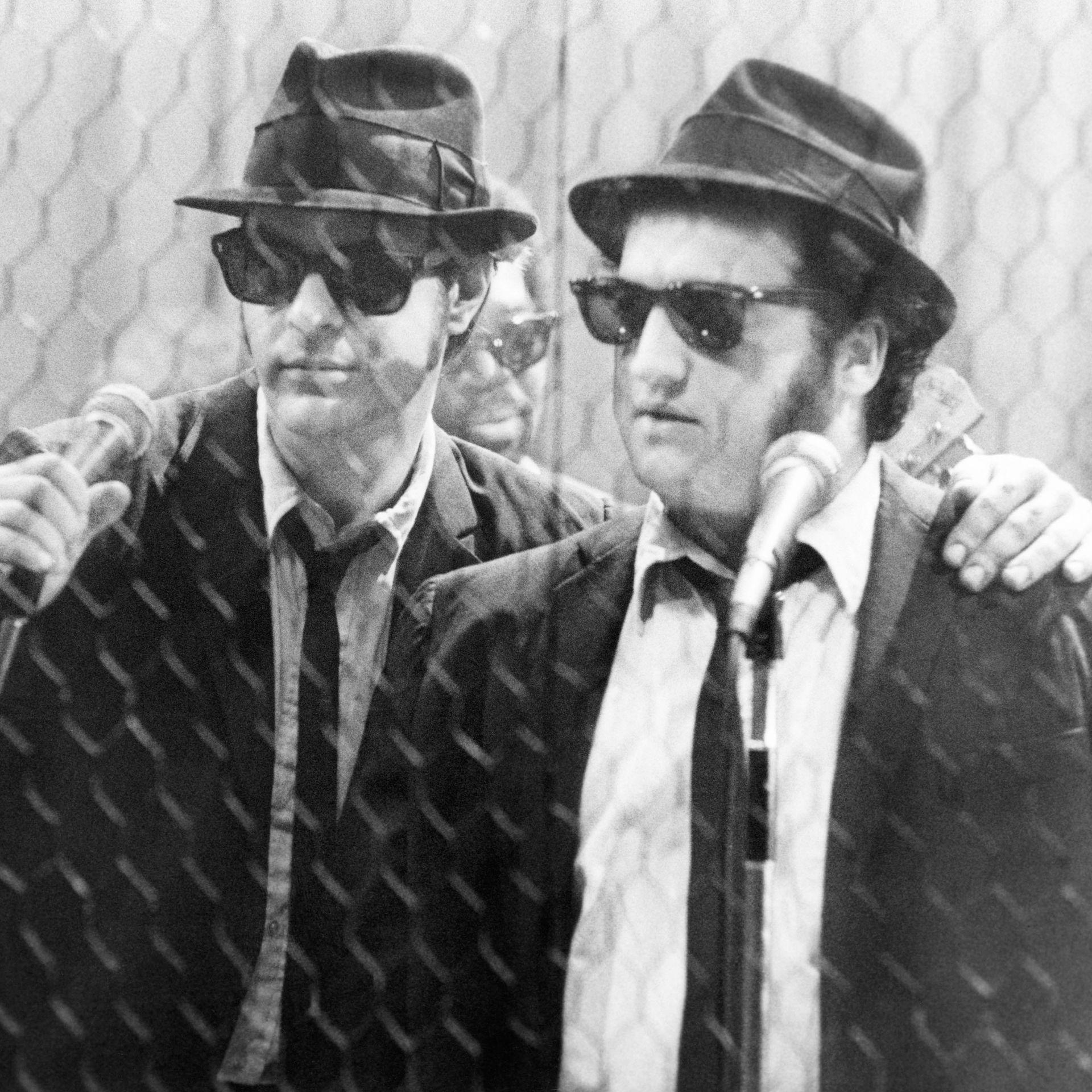 "Dan Aykroyd and John Belushi in ""The Blues Brothers."""
