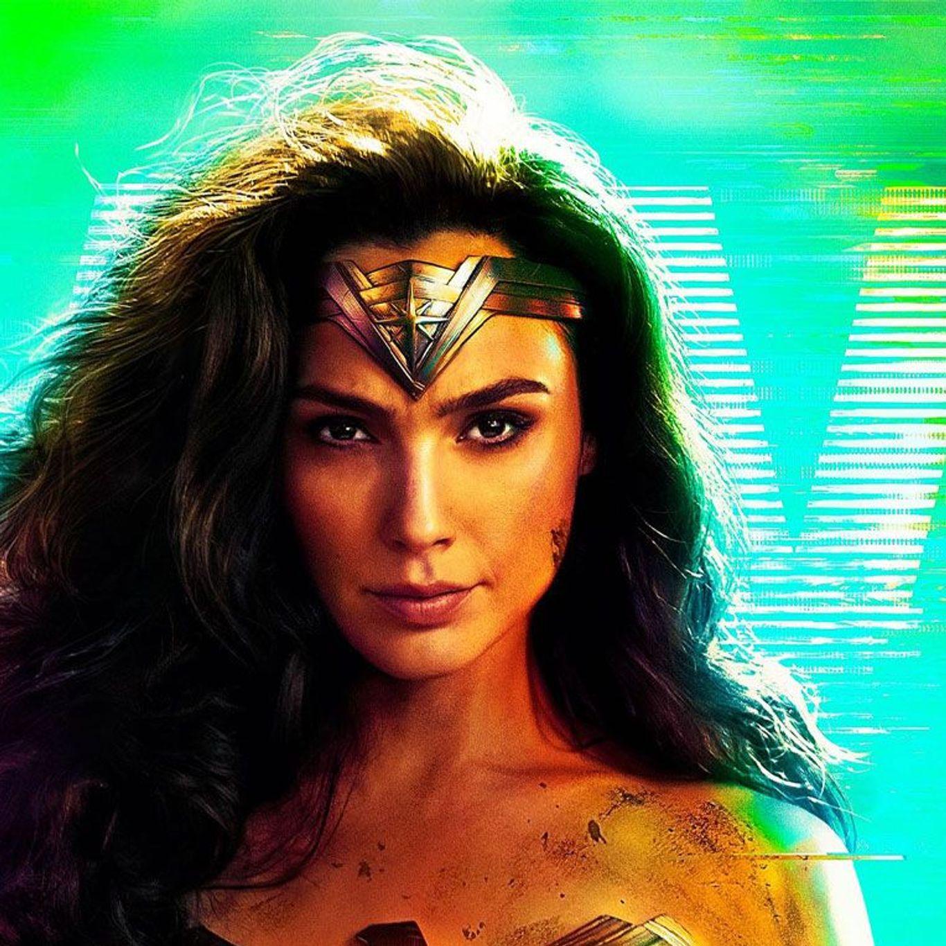 "Gal Gadot in key art for ""Wonder Woman 1984."""