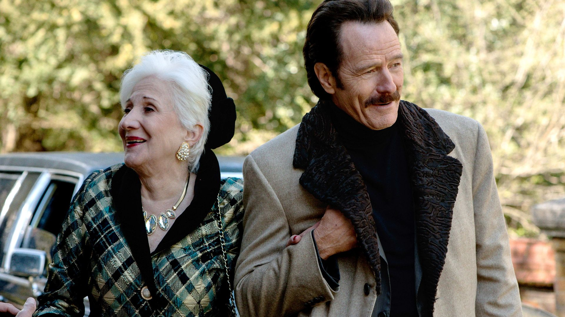 THE INFILTRATOR, from left: Olympia Dukakis, Bryan Cranston, 2016.
