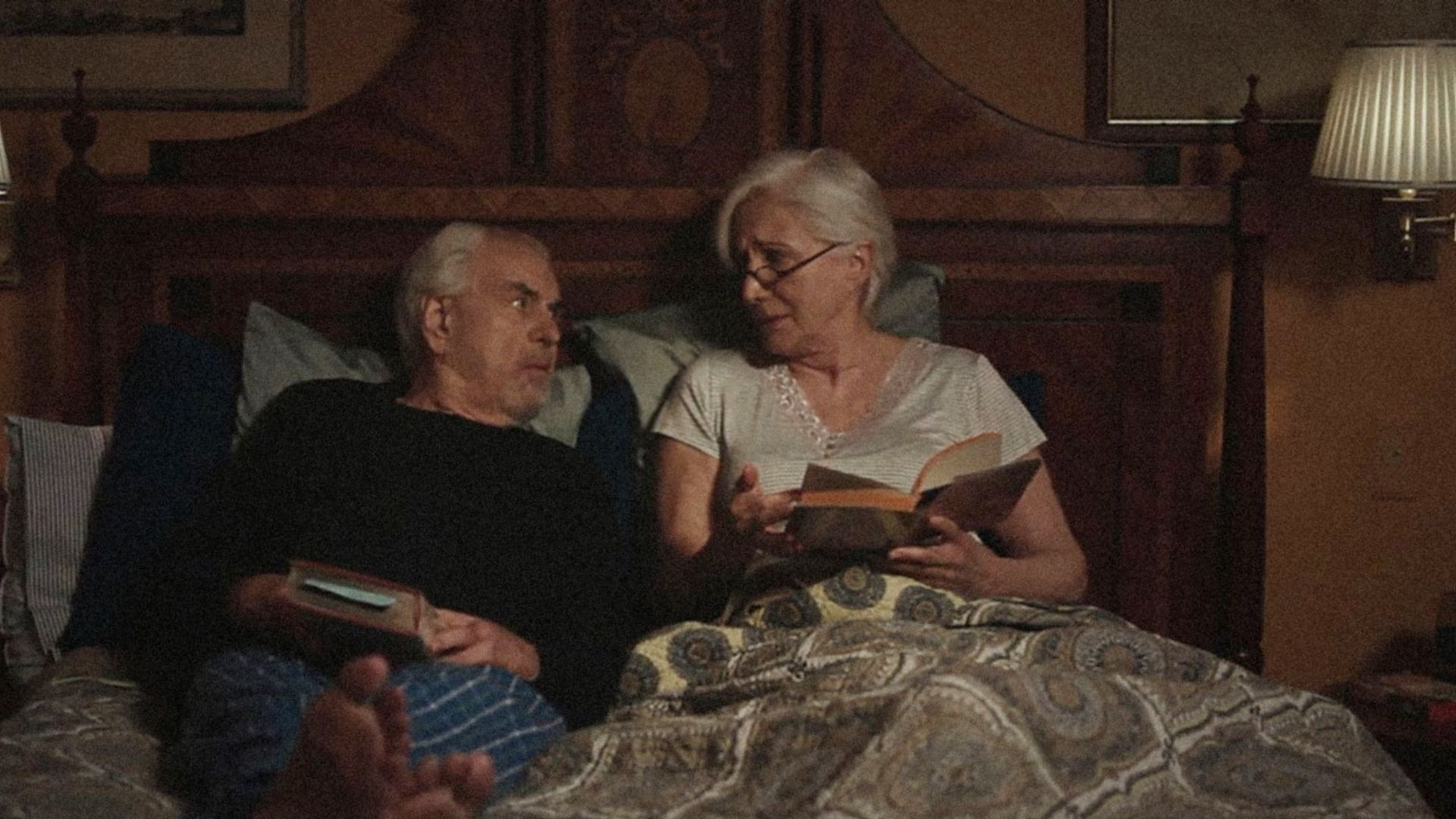 EMILY & TIM, (aka OUTLIVING EMILY), from left: Louis Zorich, Olympia Dukakis, 2015.