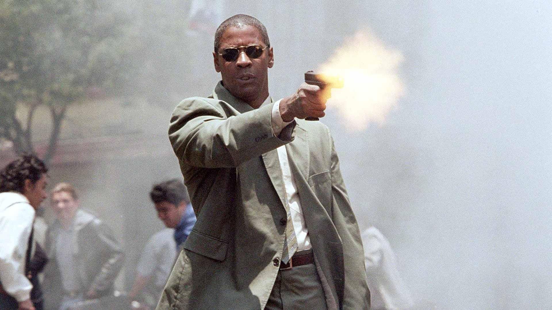 "Denzel Washington in ""Man on Fire."""