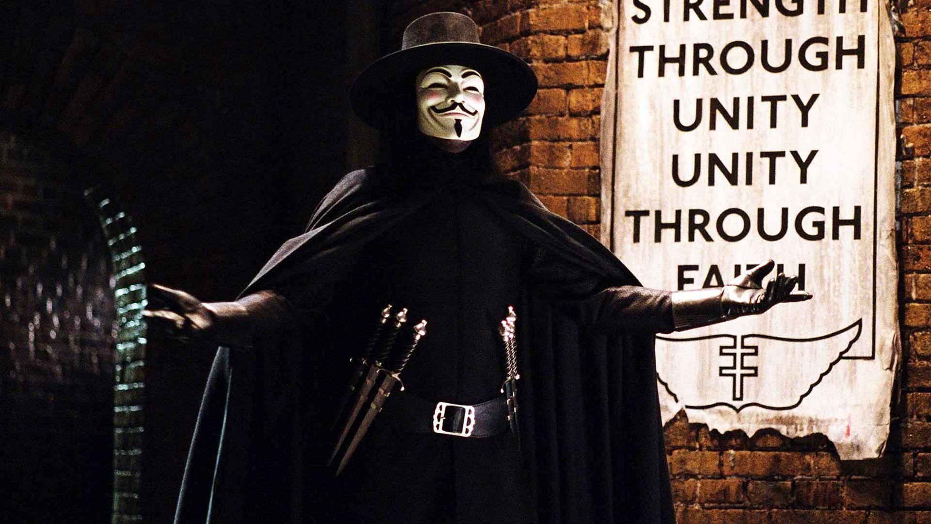 """Hugo Weaving in """"V for Vendetta."""""""
