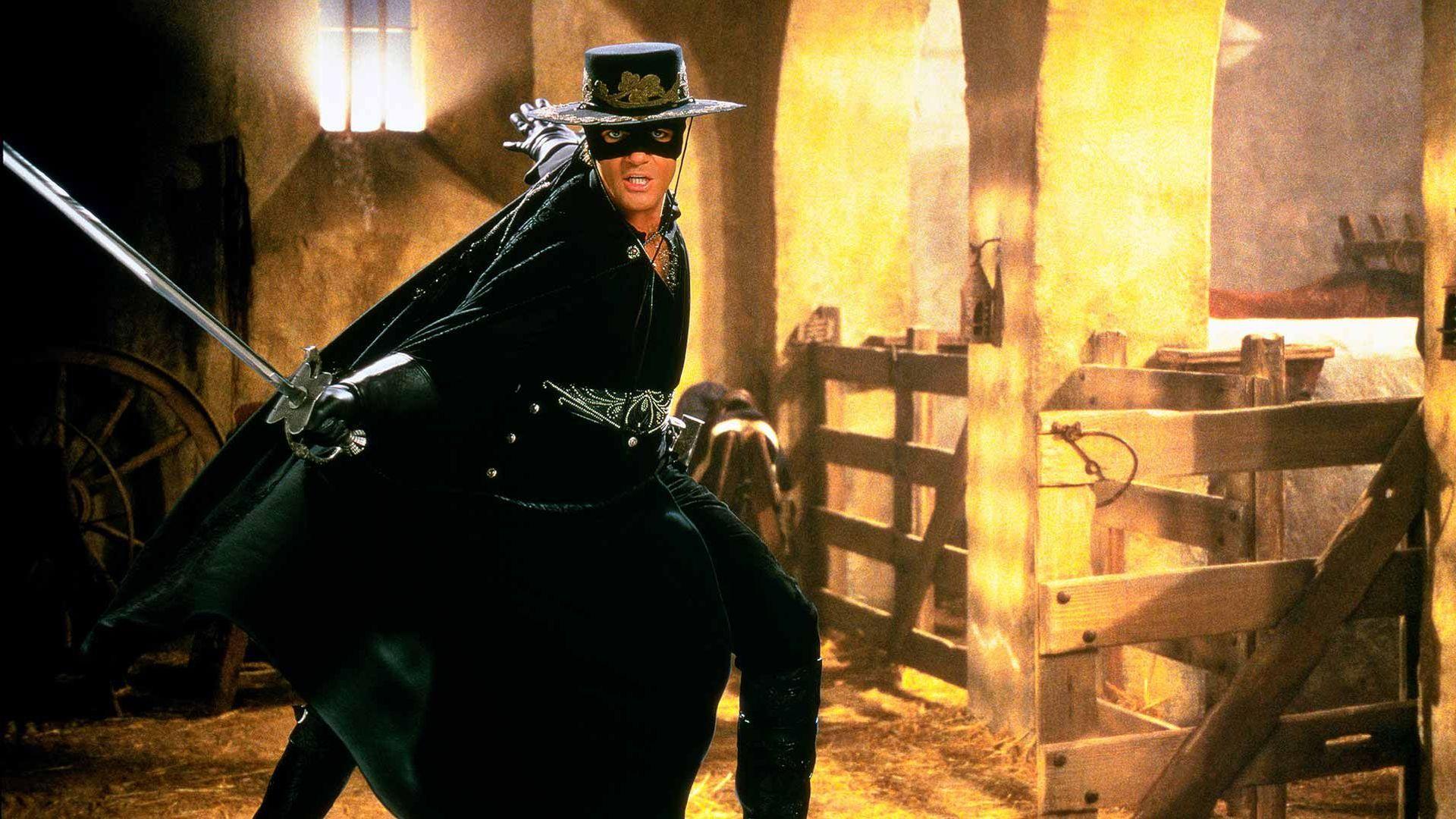 "Antonio Banderas in ""The Mask of Zorro."""