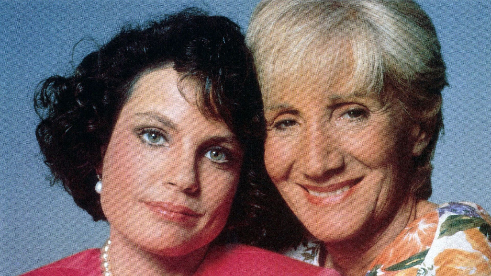 OVER THE HILL, from left: Sigrid Thornton, Olympia Dukakis, 1992.